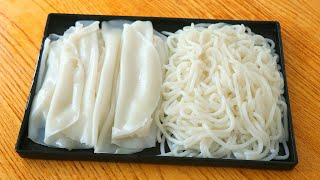 Complete works of home-made rice noodles: 2 recipes in detail