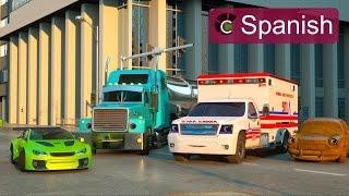 Florencia La Ambulancia y Ross El Coche de Carreras (SPANISH) - Héroes de Nuestra Ciudad