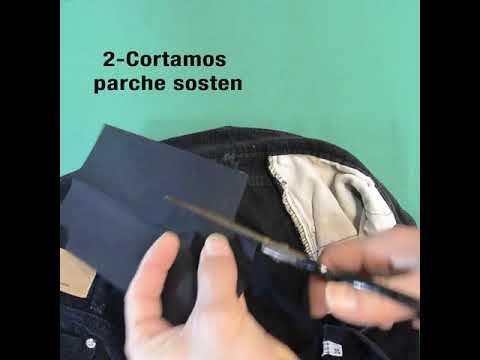 Cintura invisible con parche tradicional