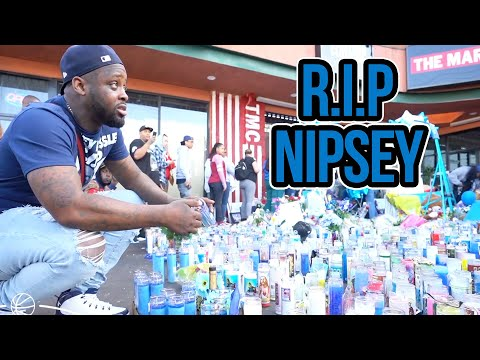 Paying Respects To Nipsey Hussle In His Neighborhood