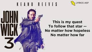 Frank Sinatra - The Impossible Dream (John Wick 3 OST) (Lyrics)(Andy Williams Cover)