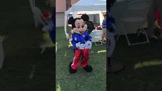 Mickey Mouse Mascot Dancing
