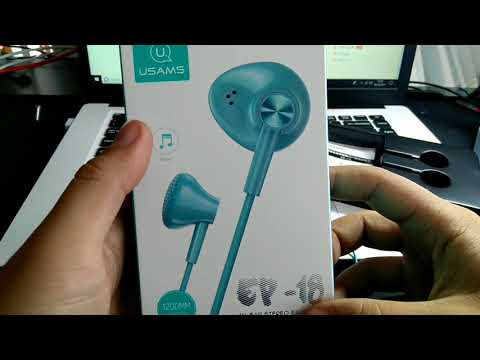 Auriculares USAMS Stereo Bass In-ear Headphone with Mic for Iphone Samsung