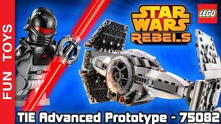 Lego Star Wars Rebels Set - TIE Advanced Prototype - 75082 + The Inquisitor + Tie Fighter Pilot 🚀