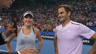 Belinda Bencic and Roger Federer on-court interview (RR) | Mastercard Hopman Cup 2018