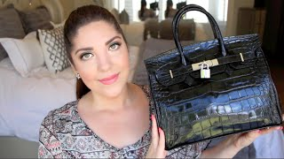 What's In My Bag / Review | Teddy Blake Leather Designer Handbag