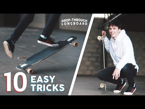 10 EASY DROP-THROUGH LONGBOARD TRICKS FOR BEGINNERS