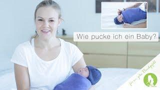 Dein Baby richtig pucken mit Puckdecke I Einschlafhilfe I Leben mit Baby