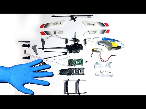RC Helicopter Taken Apart
