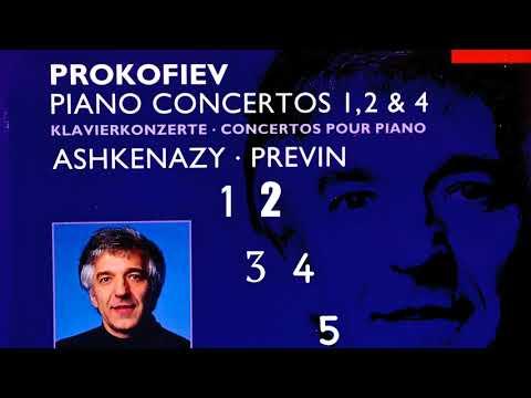 Prokofiev - Piano Concertos No.1,2,3,4,5 + Presentation (Century's recording : Vladimir Ashkenazy)