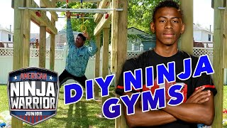 10 CRAZY DIY Ninja Gyms!! | American Ninja Warrior Junior | Universal Kids