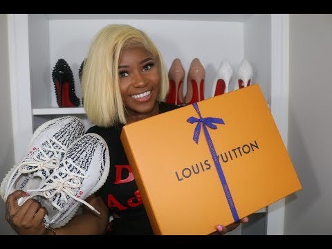 SHOE HAUL | YEEZY BOOST , LOUIS VUITTON , AND MORE (  HONEST REVIEW )