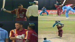 Ricardo Powell 124 vs India 1999 Singapore Challenge Final | 8 Brutal Sixes - Bowlers Extinguished!!