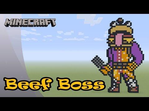 Minecraft Pixel Art Tutorial And Showcase Beef Boss Fortnite