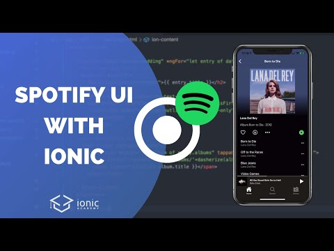 Building the Spotify UI with Ionic