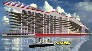 США начали строить гигантский город плавающий по морю. Tитaнuк отдыхает!