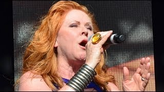 Carol Decker of T'Pau performing Heart and Soul at Let's Rock Bristol 2014