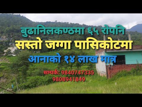  बुढानिलकण्ठ पासिकोटमा सस्तोमा जग्गा बिक्रिमा Land for sale  budhanilkantha pasikot on cheap 