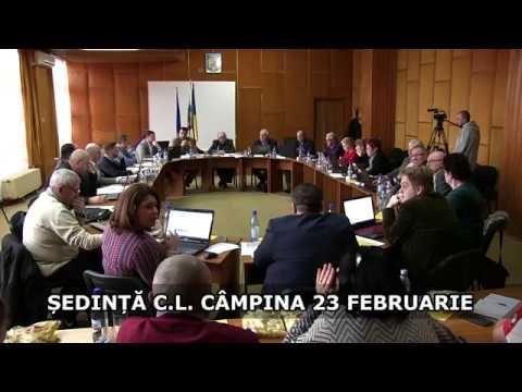 Ședința Consiliului Local Câmpina 23 februarie 2017