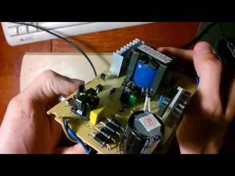 Ремонт зарядного устройства для тяговых свинцовых аккумуляторов (для электровелосипеда)