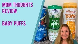 Baby Puff Review - Happy Baby puffs, Gerber puffs & Plum Organics puffs