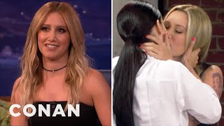 "Эшли Тисдейл, Ashley Tisdale Cast Her Girl Crush On ""Young & Hungry"" - CONAN on TBS"