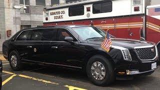 По прозвищу «Зверь»: новый лимузин Дональда Трампа  впервые показался на публике в Нью-Йорке
