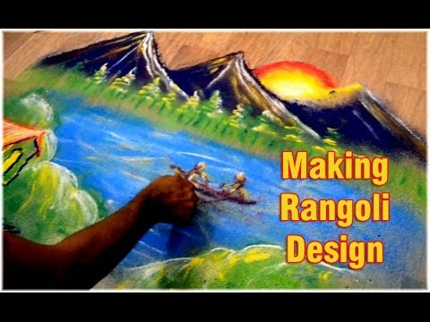 how to make creative step by step rangoli design by nitin kothari