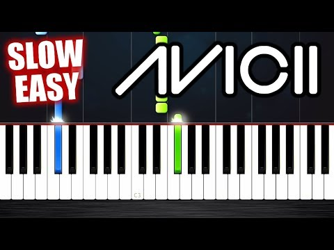Avicii - Levels - SLOW EASY Piano Tutorial by PlutaX