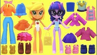 My Little Pony MLP Fashion Squad Mix and Match Twilight Sparkle and Applejack Cutie Mark Cuties