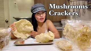 How to make Mushrooms Crackers | Paano gumawa ng Kropek or Tropek Pang Negosyo || Mugs Eats Organic