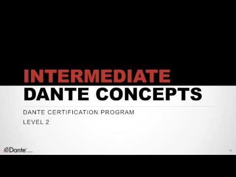 Dante Certification Level 2: #0 Introduction - YouTube