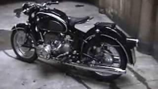 Vintage 1959 BMW R69 motorcycle