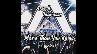 axwell ingrosso more than you know download album
