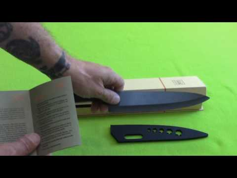 Shan Zu 8 inch Ceramic Chef Knife! Review- Great knife and price!