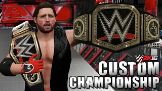 WWE 2K16 Creations: AJ Styles CUSTOM WWE World Heavyweight Title