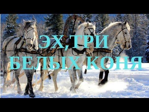 ЛУЧШАЯ НОВОГОДНЯЯ ПЕСНЯ!!! -Эх,три белых коня!