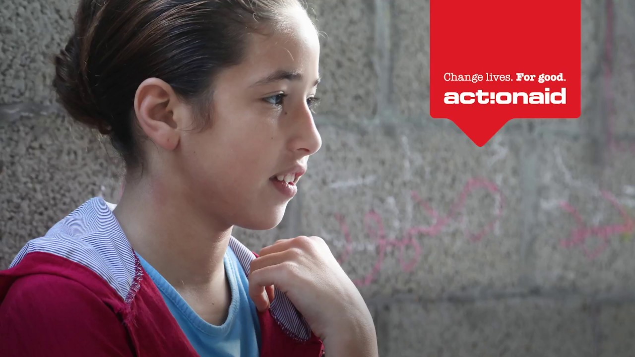 Fourteen-year-old Asma'a is growing up in Gaza.