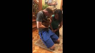 Wife Surprises Husband With Puppy On Facebook Live