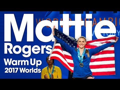Mattie Rogers 🇺🇸 Warm Up Area 2017 World Weightlifting Championships (All Lifts)