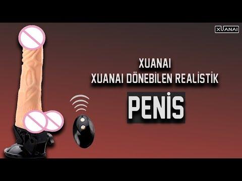 Xuanai Şarjlı Vantuzlu Dönebilen Realistik Kumandalı Penis