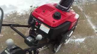 Test/Review of Brand New Honda HS720 Single Stage Snow Blower Newest Video