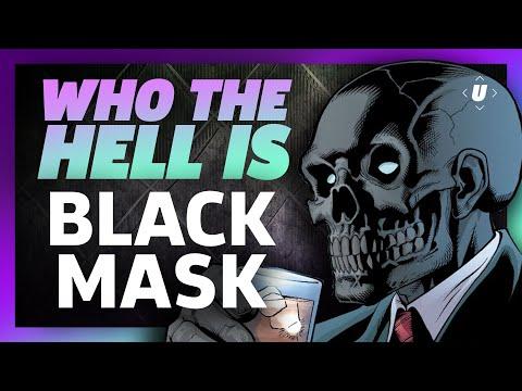 Black mask für die Person ukraina
