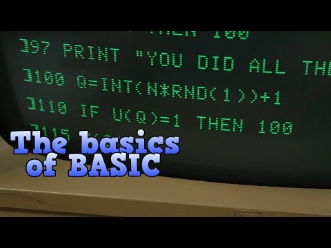 The basics of BASIC, the programming language of the 1980s,