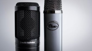 Blue Ember VS AT2020 Condenser Microphone Comparison Review / Test (Battle of the $100 Mics!)