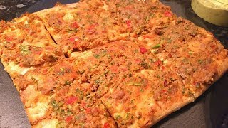 Super-quick Lahmachun (Turkish pizza) with Beef Burgers