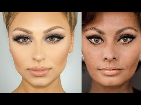 Sophia Loren Cat Eye Makeup Tutorial | Alexandra Anele