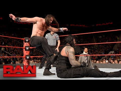 Roman Reigns vs. Elias - Intercontinental Championship Match: Raw, Nov. 27, 2017