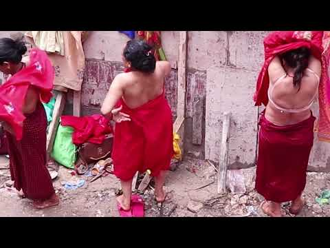 HOLI BATH कार्तिक स्नान NEPALI HINDU WOMENS BATH IN  KAGESHOWRI