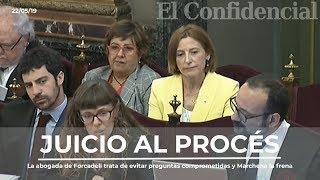 La abogada de Forcadell trata de evitar preguntas comprometidas y Marchena le frena